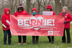 Bernie Sanders Supporters at Rally Stock Photo