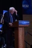 Bernie Sanders wipes forehead during speech Royalty Free Stock Photos