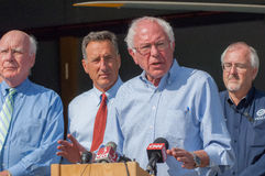 Bernie Speaks At Fema Press Conference Royalty Free Stock Photo