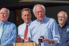Bernie Speaks At Fema Press Conference Royalty Free Stock Photo