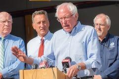 Bernie Speaks At Fema Press Conference Stock Images