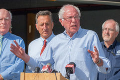 Bernie Speaks At Fema Press Conference Stock Photos