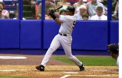 Bernie Williams av New York Yankees Arkivbilder