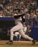 Bernie Williams Game 5, 2000 campionati di baseball Fotografia Stock Libera da Diritti