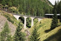 Bernina bridge Royalty Free Stock Images