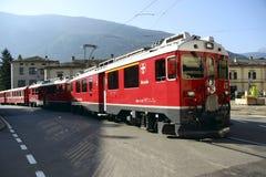 Bernina-Eisenbahn Lizenzfreies Stockbild