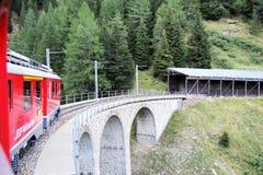 Bernina-Eisenbahn Lizenzfreies Stockfoto