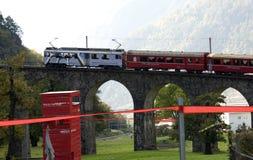 Bernina exprès - patrimoine mondial de l'UNESCO Photographie stock libre de droits