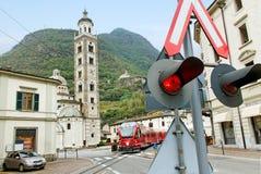 Bernina express on the street. stock image
