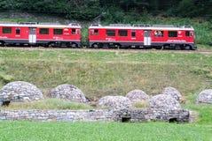 Bernina Express Train Stock Photography