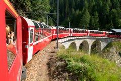 Bernina Express Train, Unesco world heritage Royalty Free Stock Image