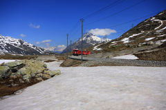Bernina Express, UNESCO World Heritage Stock Photo