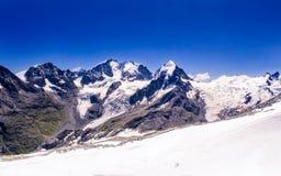 Bernina för snöig maxima område Royaltyfria Foton