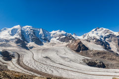 Bernina massive and glacier Stock Images