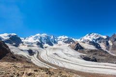 Bernina massive and glacier Royalty Free Stock Photo
