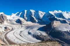 Bernina massive and glacier Royalty Free Stock Image