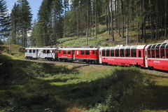Bernina mountain train Stock Photography