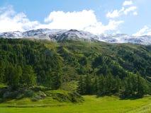Bernina pass or Passo del Bernina in Switzerland Stock Photo