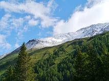 Bernina pass or Passo del Bernina in Switzerland Royalty Free Stock Photos