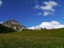 Bernina pass or Passo del Bernina in Switzerland Stock Images