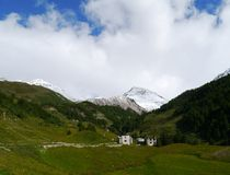 Bernina pass or Passo del Bernina in Switzerland Royalty Free Stock Photo