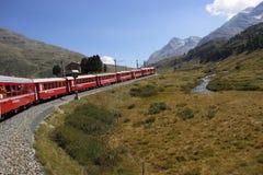 Berninaspoorweg Stock Foto's