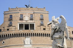 Bernini天使雕象 免版税库存照片