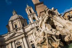 bernini конструировало фонтан 4 g Италию l реки rome аркады navona L bernese стоковая фотография rf