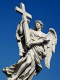 Bernini Angel. On the bridge of Castel Sant Angelo in Rome, Italy Royalty Free Stock Images