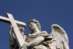 Bernini angel sculpture in Rome. Famous Bernini angel sculpture on San Angelo bridge in Rome,Italy Stock Image