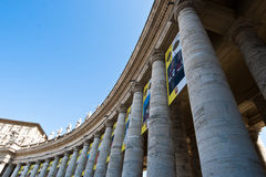 Bernini Collonade. The North side of the Bernini Collonade in Piazza San Pietro of the Vatican City stock photography