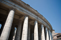Bernini Collonade. The North side of the Bernini Collonade in Piazza San Pietro of the Vatican City Royalty Free Stock Photos