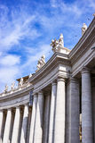Bernini colonnade of Famous San Pietro basilica Stock Images
