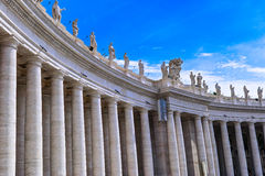 Bernini colonnade of Famous San Pietro basilica Stock Photos
