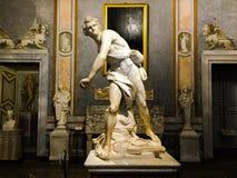 Gian Lorenzo Bernini David Sculpture in Borghese royalty free stock photo