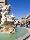 Bernini. Details of a Bernini fountain in Piazza Navona Royalty Free Stock Photography