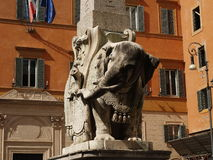 Bernini elephant. Bernini statue of elephant in Rome (Italy Royalty Free Stock Photo