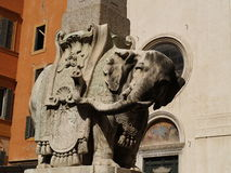 Bernini elephant. Bernini statue of elephant in Rome (Italy Royalty Free Stock Photos