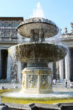 Bernini fountain and papal window, St. Peters Square Royalty Free Stock Images