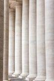 Bernini kolumnada w piazza San Pietro w Watykan, Rzym fotografia stock