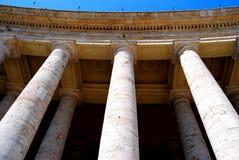 Bernini kolumnada w St Peter kwadracie, watykan obraz royalty free