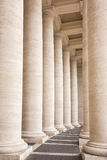 Bernini's colonnade in Piazza San Pietro in Vatican, Rome Stock Photos