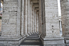 Bernini's colonnade at St. Peter's Square Royalty Free Stock Image