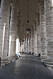 Bernini's colonnade at St. Peter's Square Stock Images