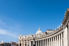 Bernini colonnades and Saint Peter Vatican. Bernini colonnades and Saint Peter Royalty Free Stock Photos
