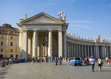 Bernini`s colonnades royalty free stock images