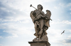 Bernini`s marble statue of an angel. Bernini`s marble statue of angel from the Sant Angelo Bridge in Rome, Italy Stock Image