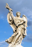 Bernini`s marble statue of angel in Rome, Italy. Bernini`s marble statue of angel from the Sant Angelo Bridge in Rome, Italy Royalty Free Stock Image