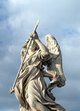 Bernini`s marble statue of angel in Rome, Italy. Bernini`s marble statue of angel from the Sant Angelo Bridge in Rome, Italy Stock Image