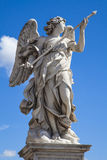 Bernini's marble statue of angel in Saint'Angelo Bridges in Rome, Italy and vatican Stock Photo